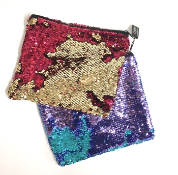 Image Sequin Color Changing Cosmetic Case