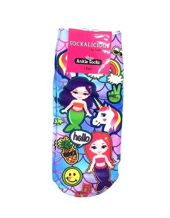 Image Mermaid & Unicorn Ankle Socks