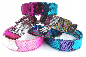 Image Sequin Color Changing Hard Headband