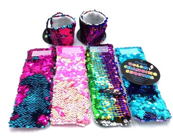 Image Sequin Color Changing Cuff Bracelet