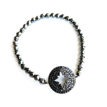 Image Pave Starburst Beaded Bracelet