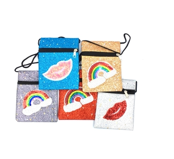 Image Purse with Sequin Patch