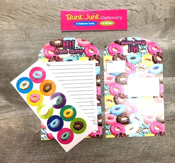 Image Crazy Donuts Camp Stationery