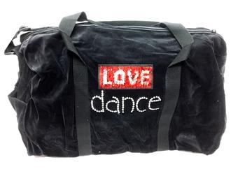 Image Love Dance Velvet Duffel