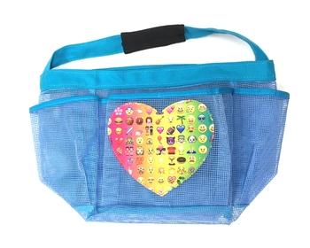 Image Multi Emoji Heart Shower Caddy