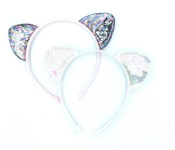 Image Sequin Cat Ear Headband