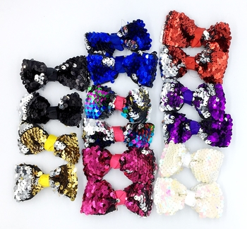 Image Sequin Bow Pair Clippies