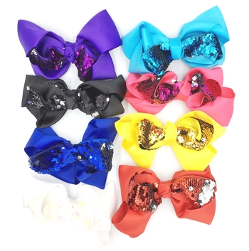Image Sequin Standup Bow Clip