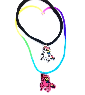 Image Painted Unicorn Confettio Choker