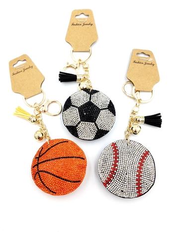 Image Sports Rhinestone Keychain
