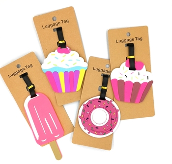 Image Silicone Junk Food Luggage Tag
