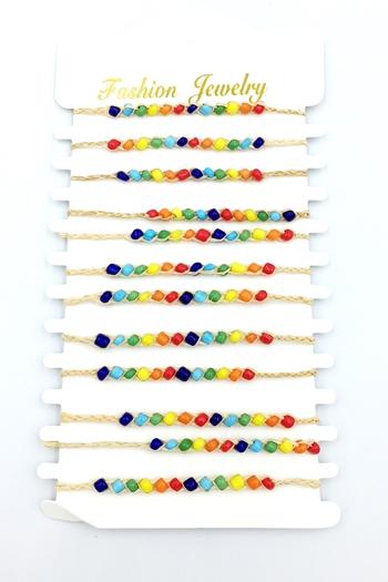 Image Rainbow Macrame Bracelet