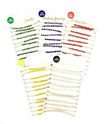 Image Color War Macrame Beaded Bracelets