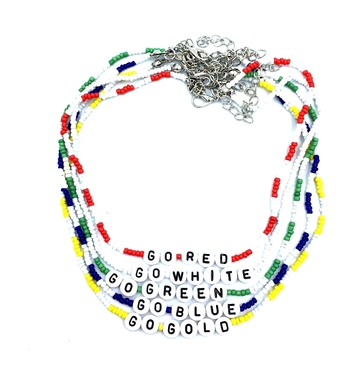 Image Color war Go Indian Beaded Choker
