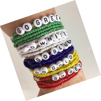 Image Color War 4pc Indian Bead Go Bracelet Set