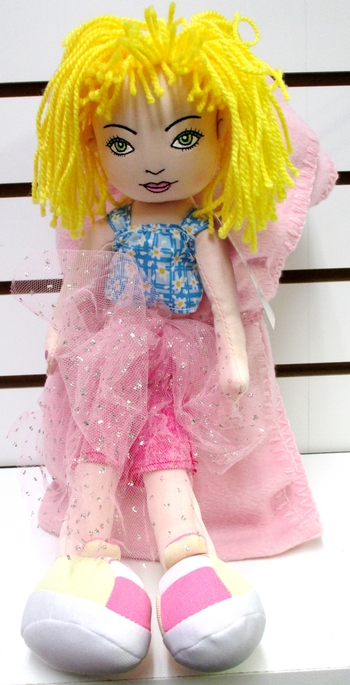 Image Rolled Blanket With Girl Junk Doll