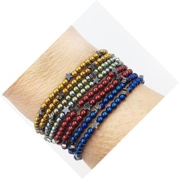Image Color War Beaded Star 2pc Bracelet Set