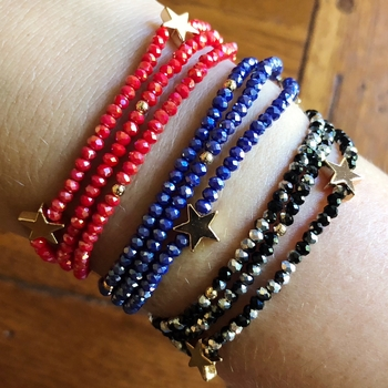 Image Star beaded Stretch Bracelet/Necklace