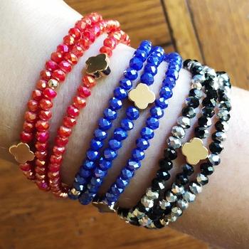 Image Clover Beaded Stretch Bracelet/Necklace