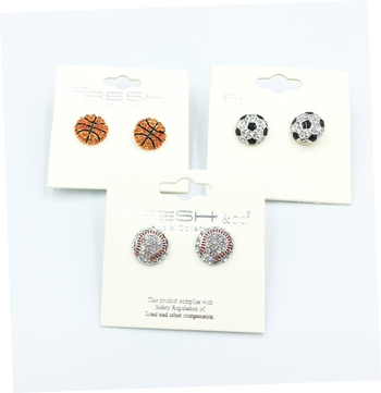 Image Sport Rhinestone Earrings