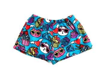 Image Cats & Cupcakes Fuzzy Pajama Shorts