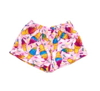 Image Pastel Cones Fuzzie Pajama Shorts