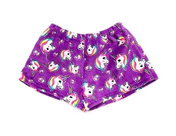 Image Pretty Unicorn Fuzzy Pajama Shorts