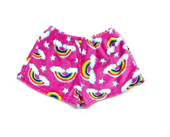 Image Pink Rainbow Clouds Fuzzies Shorts