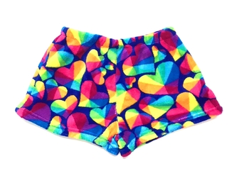 Image Prism Heart Fuzzies Shorts