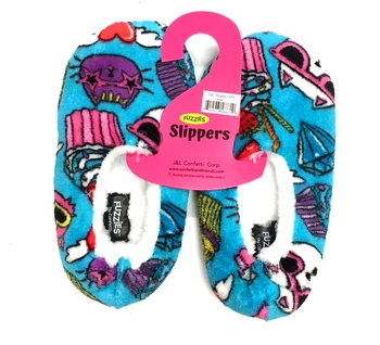 Image Crazy Cats Fuzzie Slippers