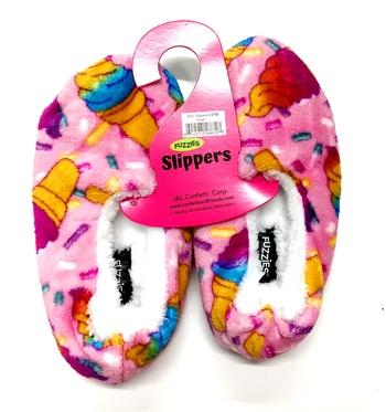 Image Pastel Cones Fuzzie Slippers