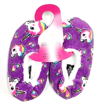 Image Pretty Unicorn Fuzzie Slippers