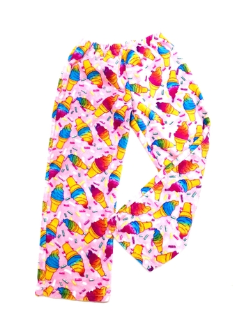 Image Pastel Cones Fuzzies Pants