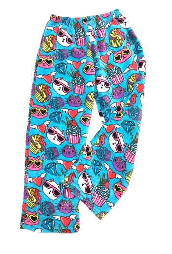 Image Crazy Cats Fuzzie Pants