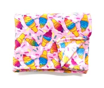 Image Pastel Cone Fuzzies Blanket
