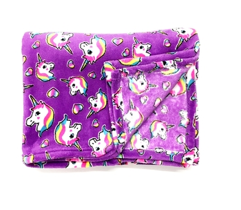 Image Pretty Unicorn Fuzzies Blanket