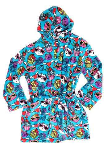 Image Crazy Cats Fuzzie Robe