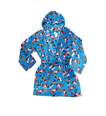 Image Race Cars Fuzzies Robe