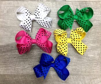 Image Dotted Small Standup Bow Clippie