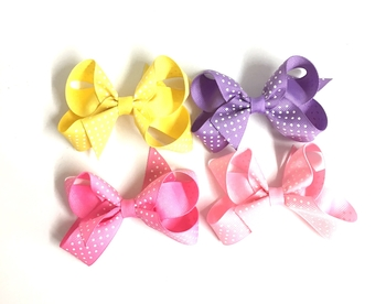 Image Pastel Dot Small Standup Bow Pony