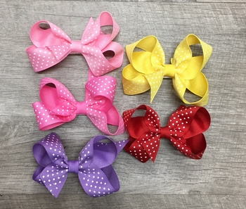 Image Pastel Dot Small Standup Bow Clippie