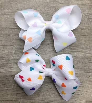 Image Heart Medium Stand Up Bow Clippie