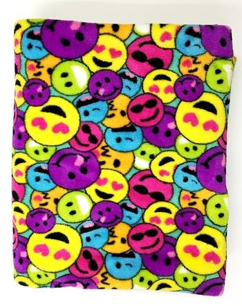 Image Multi Rainbow Smile  Fuzzie Poncho