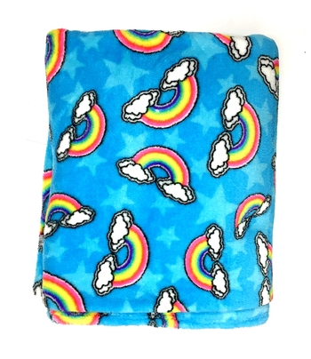 Image Rainbow Clouds Fuzzie Poncho