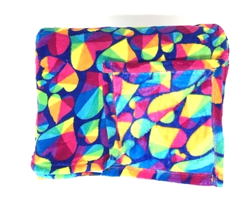 Image Prism Hearts Fuzzie Poncho