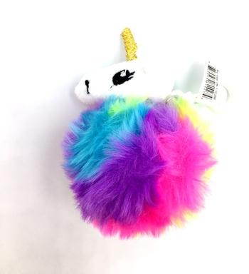 Image Unicorn Plush Pom Keychain
