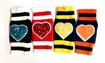 Image Sequin Fingerless Gloves