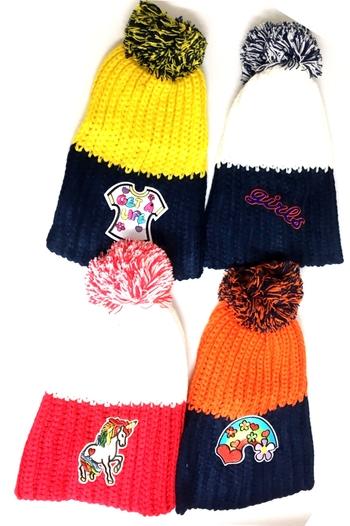 Image Knit Patch Hat