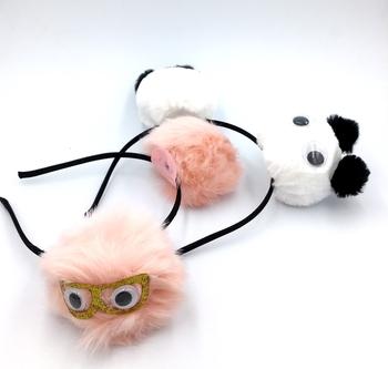 Image Googly Eye Pom Pom Headbands