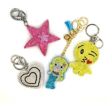 Image Rainbow Fun Rhinestone Keychains